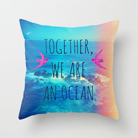 Ocean Lomo Throw Pillow by Sabine Doberer | Society6