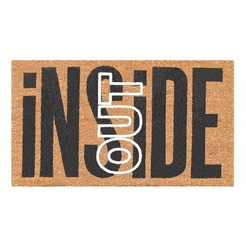 """First Impression Inside Out Coir Entry Fade Resistant Flocked Doormat, 18"""" X 30"""""""