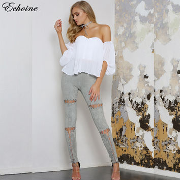 Echoine Lace Up Cut Out Suede Leather Pencil Pants 2017 Street Fashion Casual Outfit Women Trousers Sexy Bandage Legging Pants