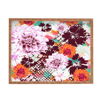Aimee St Hill Croc And Flowers Orange Rectangular Tray
