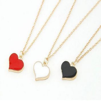 New Fashion retro 3 color heart pendant necklace lucky jewelry accessories best selling in 8ND337