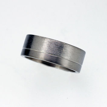 35% SALE size 8.75,  Men's titanium wedding band, Men modern ring, Titanium men, Titanium band, commitment, matte, contemporary, unisex