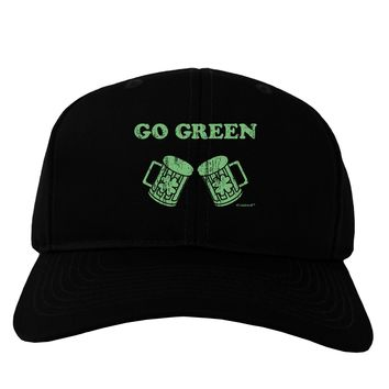 Go Green - St. Patrick's Day Green Beer Adult Dark Baseball Cap Hat by TooLoud