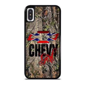 CAMO BROWNING REBEL CHEVY GIRL iPhone X Case Cover