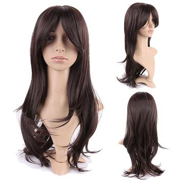 19 Inch Long Straight Women Cosplay Wig Synthetic Hair Wigs For Daily Dress