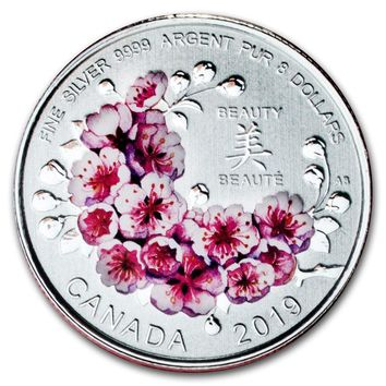 2019 Canada Silver $8 Brilliant Cherry Blossoms: A Gift of Beauty