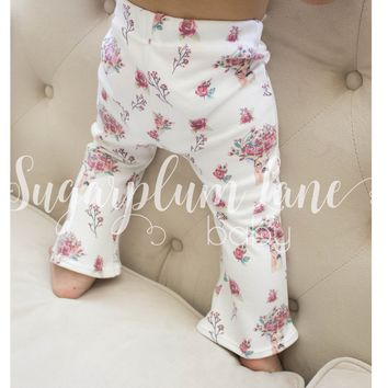 Rose Deer Bell Bottom Leggings for Babies and Toddlers