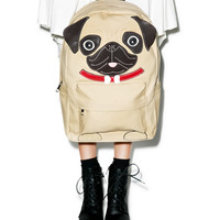 Comeco Inc. Precious Pug Backpack Tan One