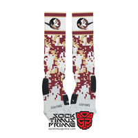 Custom Nike Elite Socks - Florida State Seminoles Custom Nike Elites - Florida State University, Custom Elites, FSU, Nike Socks