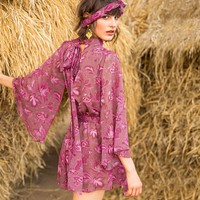 BOHO INSPIRED Sexy Romper Ruffles Bohemian Floral print Summer Short Jumpsuit butterfly sleeve Woman Bodysuits overalls playsuit