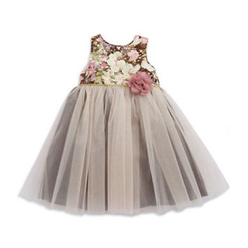 Pippa & Julie Girls 2-6x Floral Party Dress