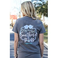 Southern Darlin Bless This Hot Southern Mess Bow Bright Girlie T-Shirt