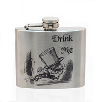 Steel 5oz Flask - Drink Me