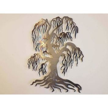 Heat Treated Weeping Willow Metal Art