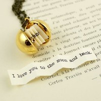 Secret Message Ball Locket Necklace