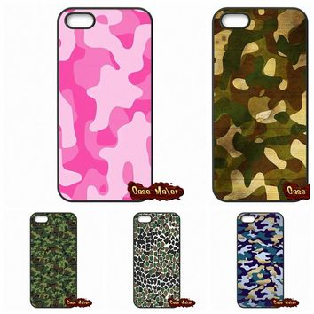 Camo Camouflage Skin Phone Case Cover For iPhone SE 4 4S 5S 5 5C 6 6S Plus Samsung Galaxy S2 S3 S4 S5 MINI S6 S7 Edge Note 3 4 5