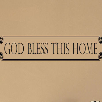 God Bless This Home wall decal