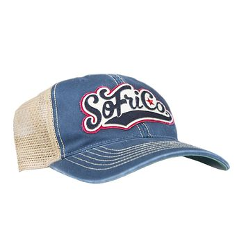 62af43c2 SoFriCo Script Patch Denim Hat by Southern Fried Cotton