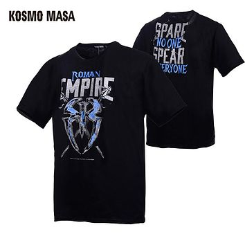 KOSMO MASA 2017 Wrestling Roman Reigns Men's T-Shirt Cotton Cena Dean Ambrose Tee Many Different Styles Hip Hop Shirt MC0171