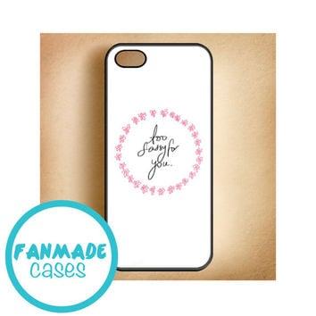 Too Sassy For You flowers 4/4s 5/5s/5c & iPod 4/5 Rubber Case
