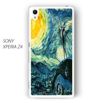 Nightmare Before Christmas Art Van Gogh for Sony Xperia Z1/Z2/Z3 phone case
