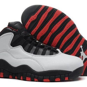 DCCKL8A Jacklish Girls Air Jordan 10 Gs Chicago White/black-varsity Red Womens On Sale