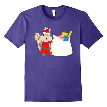 Funny Santa Claus Squirrel T-Shirt Lovely Christmas Costume