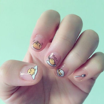 Free Shipping | Gudetama Waterslide Decal/Nail decals