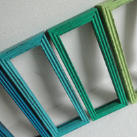 Frame mirror set collection gallery wall distressed by TRWpainted