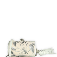 Alexander McQueen Small North South Floral Box Clutch