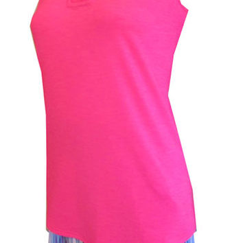 JoFit Ladies & Plus Size Golf Outfits (Shirt & Skort) - Champagne (Tropical Pink)
