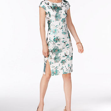 ECI Floral-Print Sheath Dress | macys.com