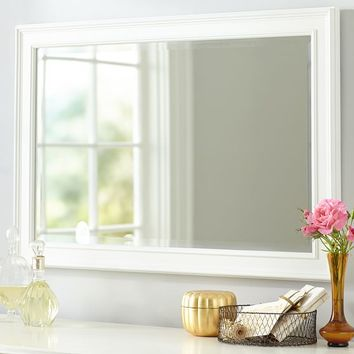 Simple Mirror, White