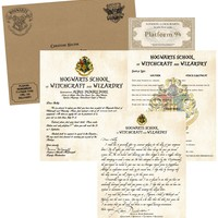 Personalized Harry Potter Acceptance Letter - with Envelope, Apology letter, Supply List and Ticket - Hogwarts School of Witchcraft and Wizardry