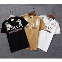 Gucci Hot letters Embroidery print T-shirt top