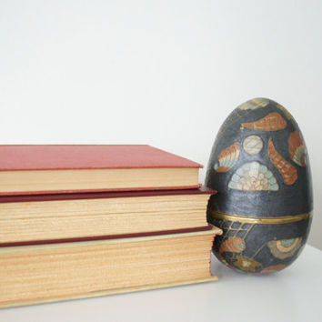 Vintage hollow brass egg by SCAVENGENIUS on Etsy