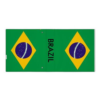 Binder with Flag of Brazil