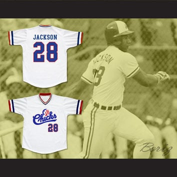 Bo Jackson 28 Memphis Chicks Baseball Jersey Stitch Sewn New