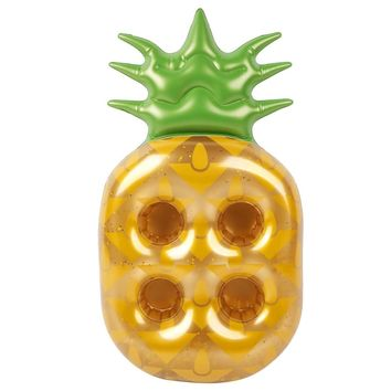 Glitter Pineapple Drink Holder Pool Float