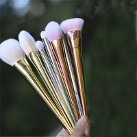 New 7pcs Makeup Cosmetic Brushes Set Powder Foundation Eyeshadow Eyeliner Lip Brush Tool