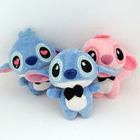 2pcs/lot Lilo stitch/plush toys/mobile phone's accessories, figurines/cartoon bouquet of