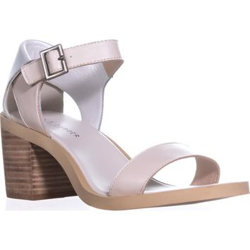 Kelsi Dagger Brooklyn Linden Ankle Strap Sandals, Sea Salt, 9.5 US / 40 EU