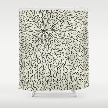 Pearlised Drops - Ivory Shower Curtain by Alice Gosling | Society6