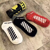 ABKUYOU OFF-WHITE Socks