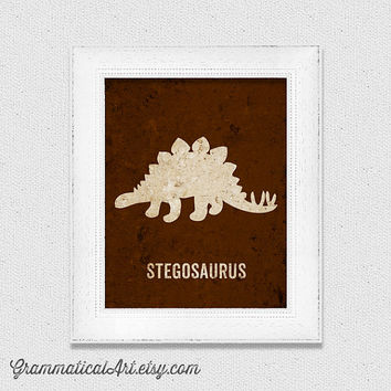 Stegosaurus Poster Dinosaur Nursery Print Science Poster Baby Geekery Dino Gifts for Teachers Typographic Print Science Gifts Science Nerd