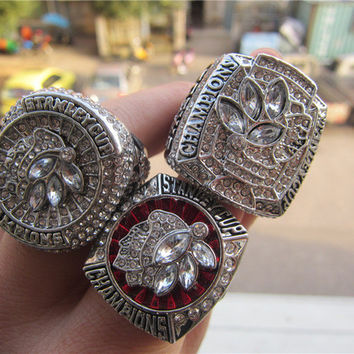 high quality 2010 2013 2015 Chicago Blackhawks championship ring 3 together set free shipping B