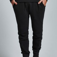 Crooks and Castles Elite Biker Fleece Jogger Pants - Mens Pants - Black
