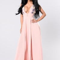 Locomotive Beauty Dress - Blush/Purple