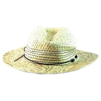 New Acorn Womens Western Straw Cowboy Cowgirl Hat Cap Natural A31032 One Size