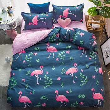 Red Flamingos High Quality! New Style Bedding Sets Bed Sheet,king Queen Full Twin Size Pillowcase & Duvet Cover Sets 4pcs